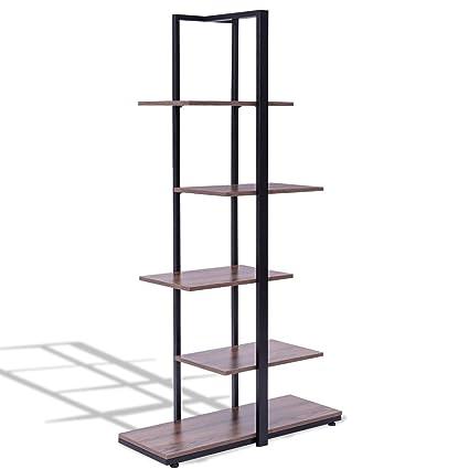 CHOOSEandBUY 60quot Modern Open Concept Display Etagere Shelf Bookcase Bookshelf Tower
