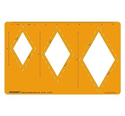 amazon com diamond shape easy cutting patchwork stencil quilt template