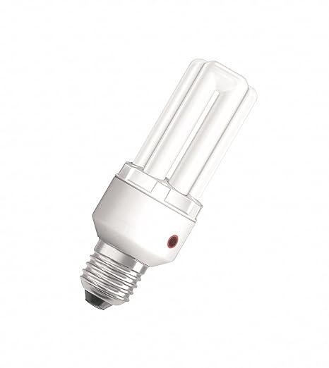 Sensore Accensione Lampade Con Crepuscolare.Osram Dulux El Sensor Lampadina A Risparmio Energetico 15 W E27 Con Sensore Di Luminosita E 27 Tubolare