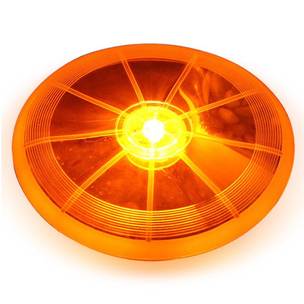 Light Frisbee, Legendog Flying Frisbee LED Light up Pet Flying Disc Pet Training Toy for Night Random color