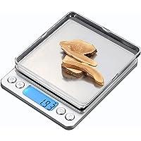 e-MORE dijital mutfak ölçek ile, yüksek hassasiyet Pocket gıda ölçek ölçek çok işlevli Pro seviye, arkadan aydınlatmalı LCD ekran, tara, PCS özellikler, gümüş (500g/0,01g)