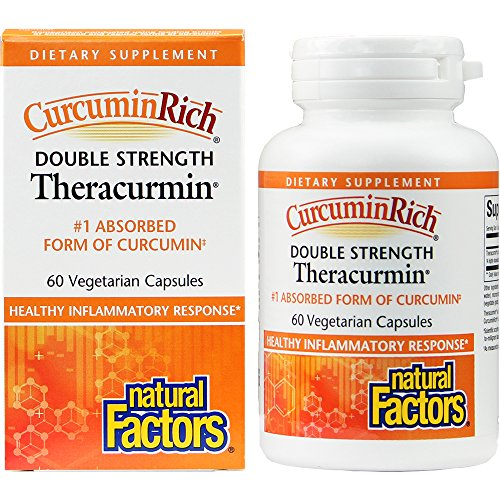 CurcuminRich by Natural Factors, Double Strength Theracurmin, Turmeric Supplement, Tumeric Supplement Joint and Heart Function, 60 Capsules (60 Servings) (FFP) by Natural Factors (Image #4)