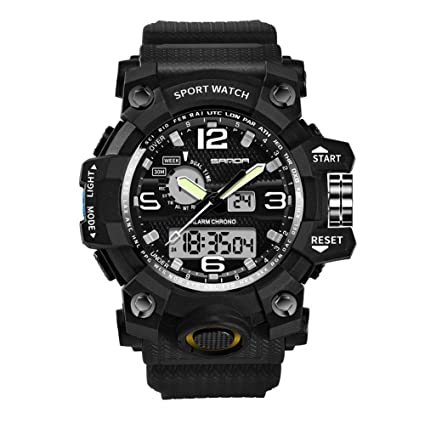 0c2de837fe2 Image Unavailable. Image not available for. Color  三达 Purelemon New Quality Sanda  742 Military Outdoor Sport Watch Men s Top Brand Electronic LED
