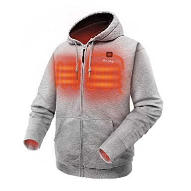 0210e4055 Amazon.com: ORORO Heated Hoodie with Battery Pack (Unisex): Clothing