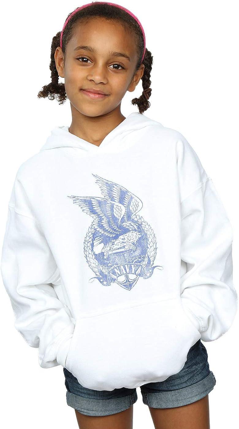 Drewbacca Girls Navy Eagle Hoodie