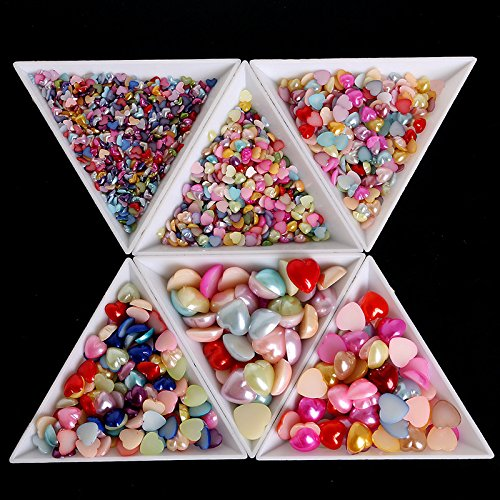 JD Million shop 10Pcs Rhinestones Beads Crystal Nail Art White Plastic Triangle Storage Sorting Trays