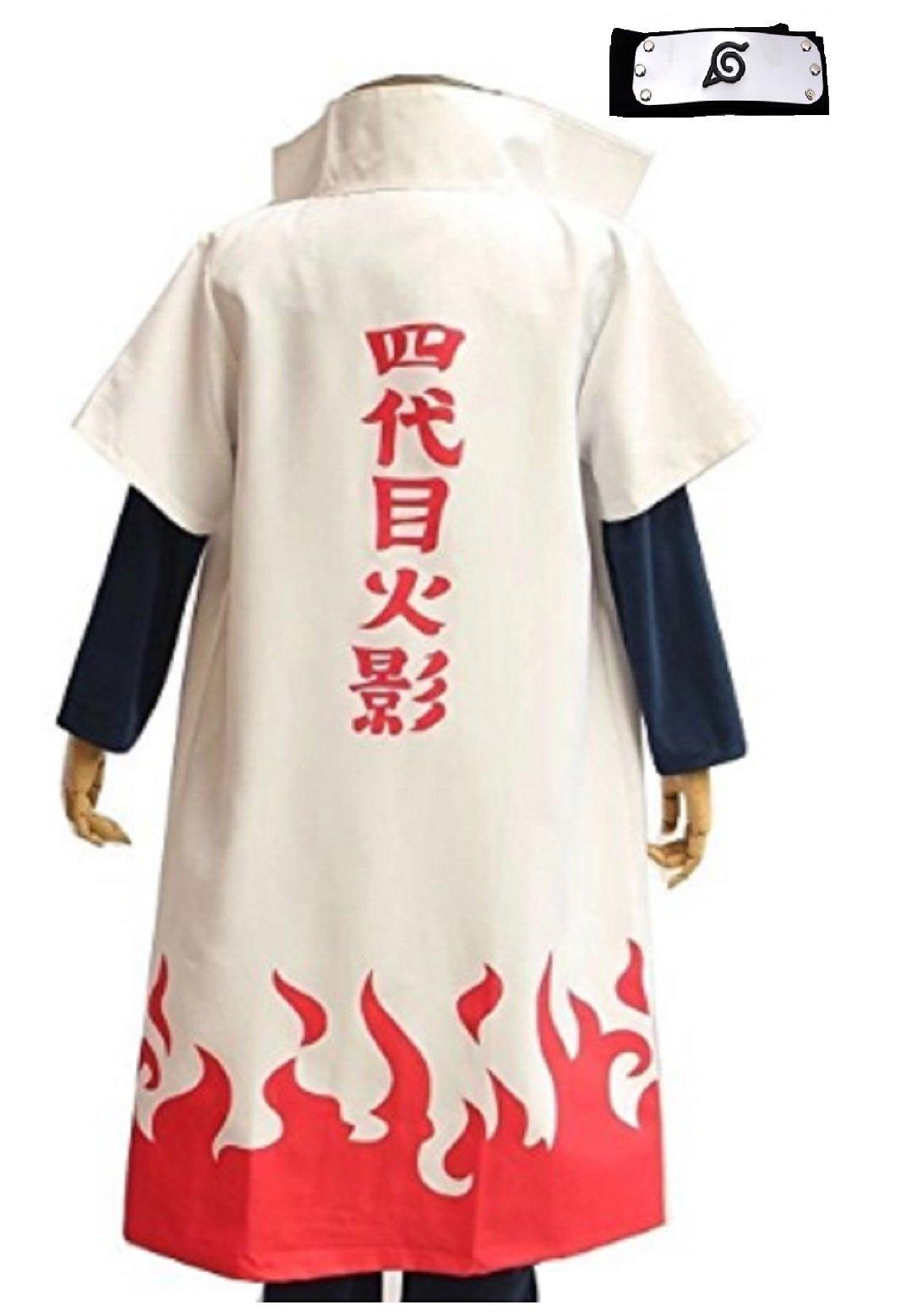 Fuji Japanese Anime Naruto Cosplay Costume Robewith Headband set(M)