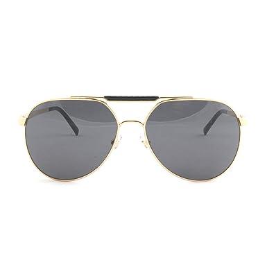 c9d615f23de0 Versace - Lunette de soleil VE 2155 Pop Chic Logo Aviator - Homme, 100287,  Gold, Gray  Versace  Amazon.fr  Vêtements et accessoires