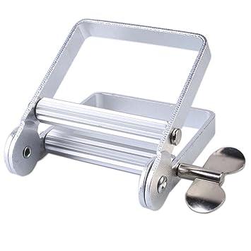 RENZE exprimidor de tubo de metal y aluminio, exprimidor de tubo adecuado para pasta de