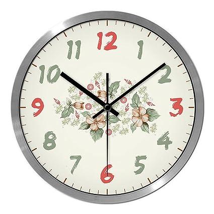 LXF Reloj de Pared Relojes De Moda De Estilo De País Fresco Y Relojes Reloj De ...