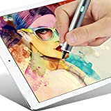 SLIM PRO Stylus Pen for iPad, iPad Pro, iPhone,Samsung Tablet,Most of IOS,Android Mobile Devices, Adjustable Fine Point Tip, Includes USB Charger, Rechargeable Battery,GRY