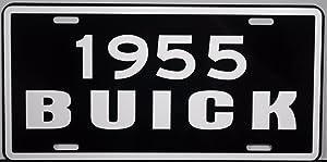 1955 55 BUICK METAL LICENSE PLATE TAG 6 X 12 GM ROADMASTER RIVIERA SUPER CENTURY SEDAN ESTATE WAGON HOT ROD CAR CLASSIC CUSTOM MAN CAVE MUSEUM COLLECTION GARAGE SHOP WALL ART NOVELTY GIFT SIGN
