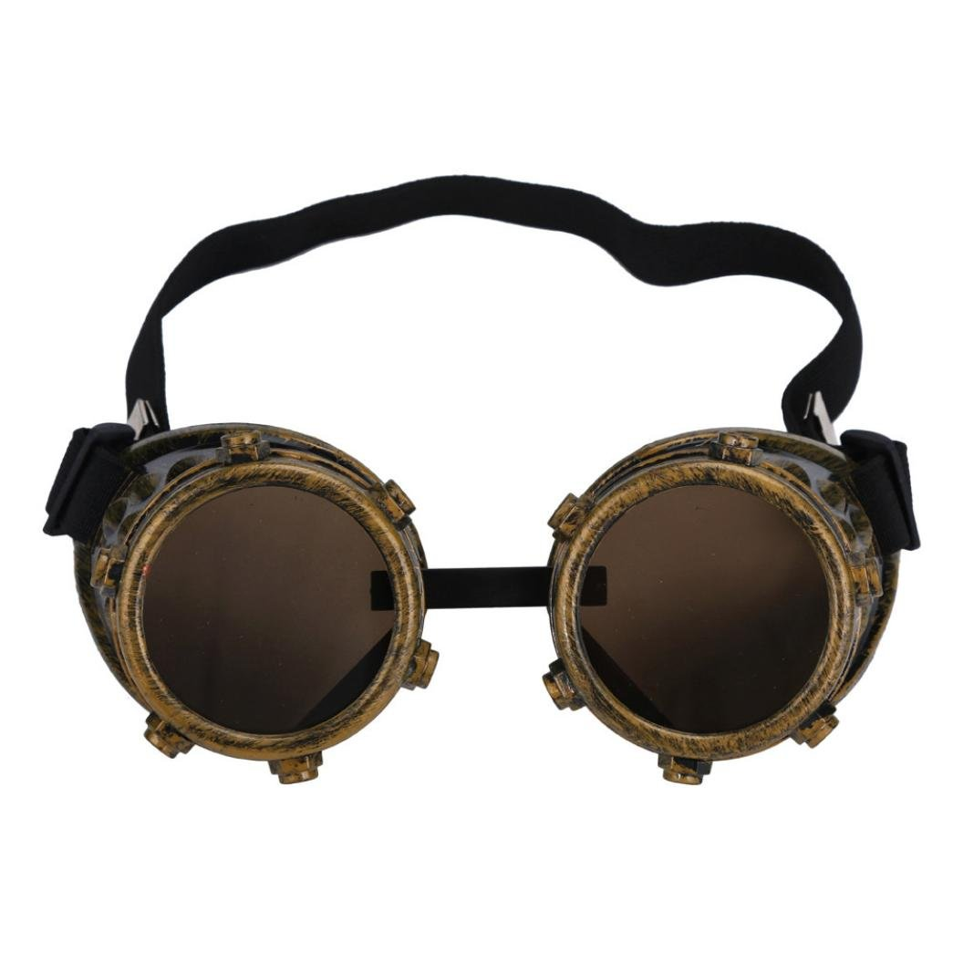 FTXJ Retro Steampunk Goggles Welding Punk Glasses Cosplay