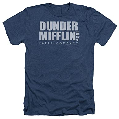8fe59dba0a81f Amazon.com  Dunder Mifflin Inc. - Official The Office Heather T-Shirt   Clothing