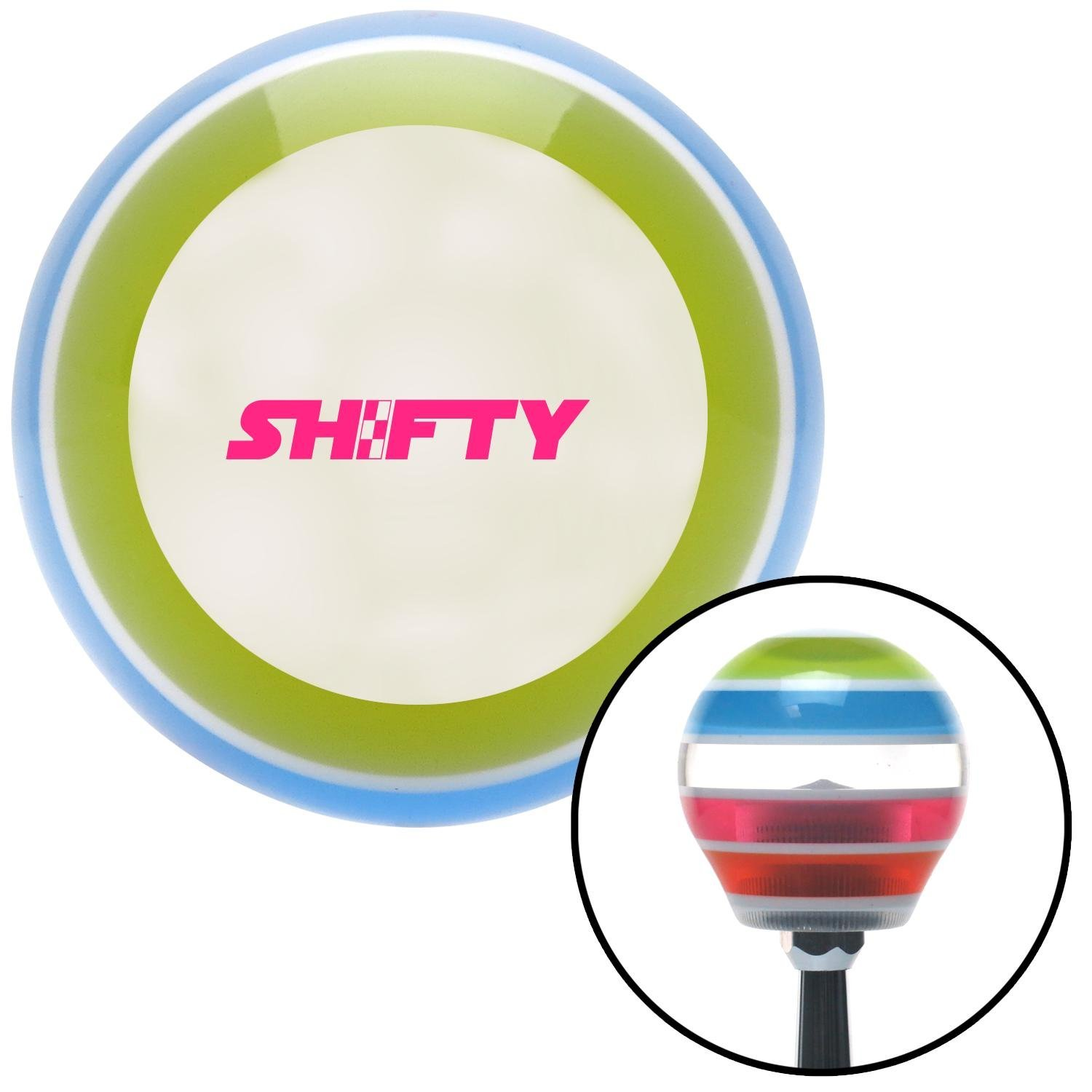 American Shifter 137898 Stripe Shift Knob with M16 x 1.5 Insert Pink Shifty