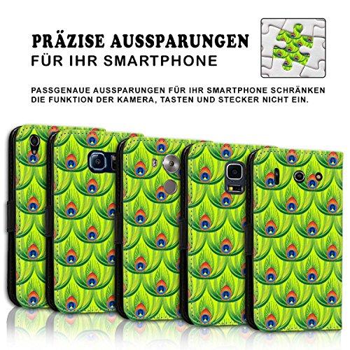 Wallet Book Style Flip Handy Tasche Case Schutz Hülle Schale Motiv Etui für Apple iPhone 4 / 4S - Design Flip MVD225