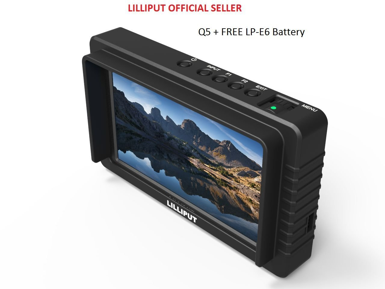LILLIPUT exclusively Black housing version Q5 5.5'' 1920x1080 Full HD Resolution SDI and HDMI Cross Conversion+ LP-E6 battery by Lilliput