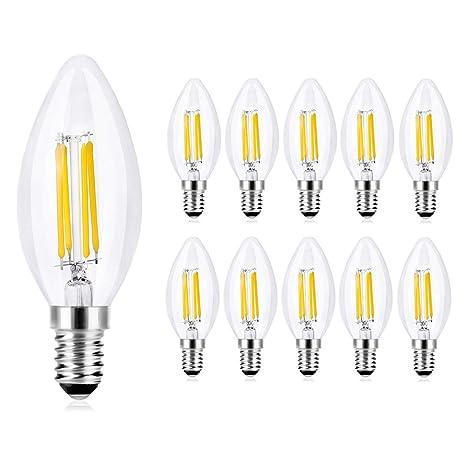 Lot Équivalent 420 Led E14 Ampoules W Edison Vis De 10 – Transparente Forme Incandescence Wedna Ampoule Bougie Culot En 40 Lm À 4 6Yyvgbf7
