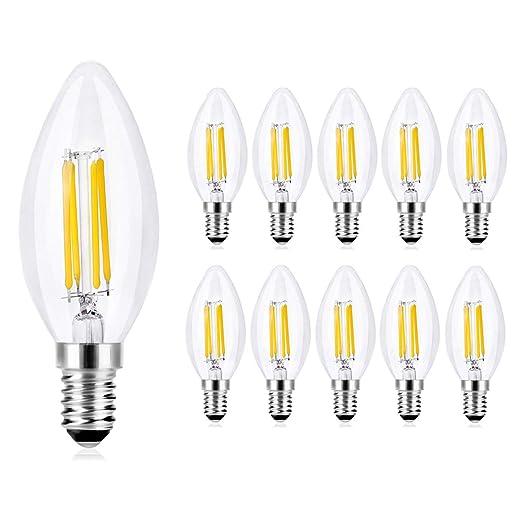 10 bombillas LED de vela de Wedna, E14,4W,