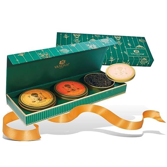 VAHDAM, juego de regalo de té surtido | 3 regalos de té, 75 porciones