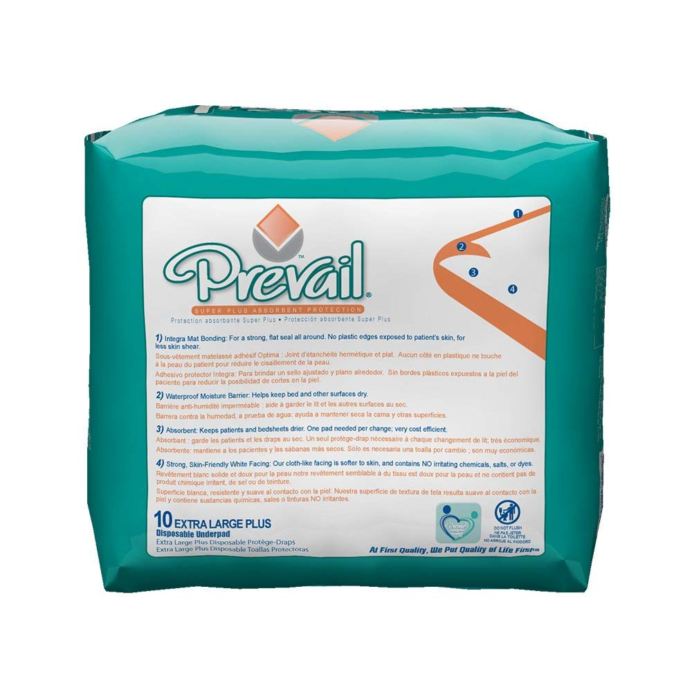 Amazon.com: Prevail® Super Absorbent Underpads-Pad Size 30