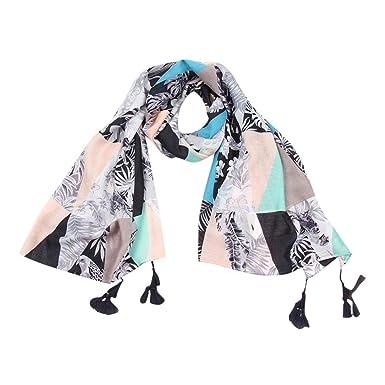 Foulards Femme, Koly Grand Tartan Echarpe ChâLe Mode FéMinine Stole Plaid  En Laine Tissu Glands 22c7d28998c