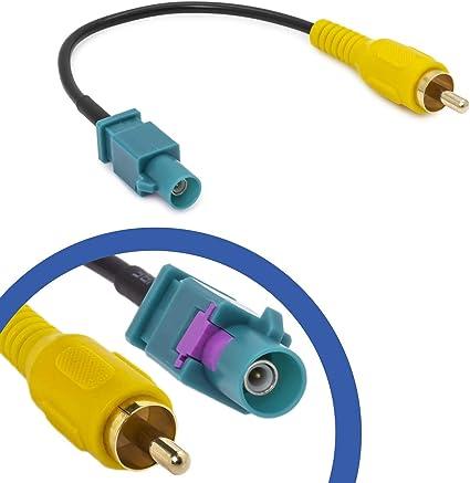 Cinch Fakra Adapter Kabel Kompatibel Mit Mercedes Comand Ford Blaupunkt Nx Video Auto