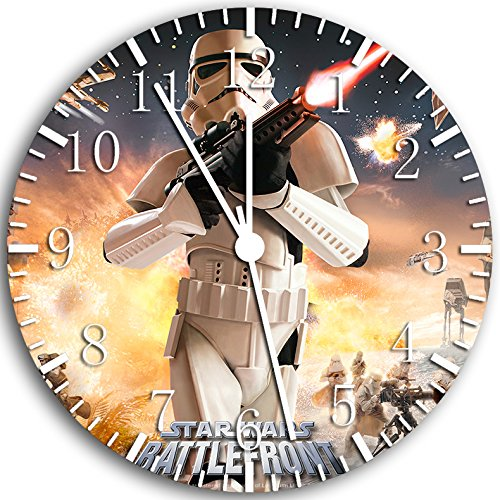 Star Wars Frameless Borderless Wall Clock W48 Nice for Gift or Room Wall Decor