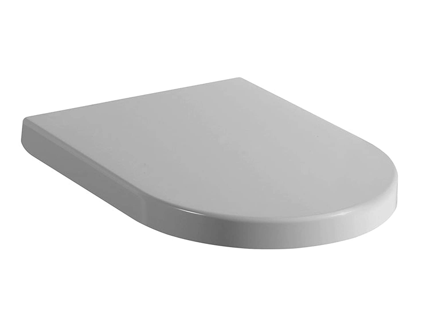 Toilet seat designed to fit Duravit happy D standard pans with pan seat hole centres of 180-220mm. Soft close quick release. Manufactured from anti bac urea plastics. by Gush Bathroom Products