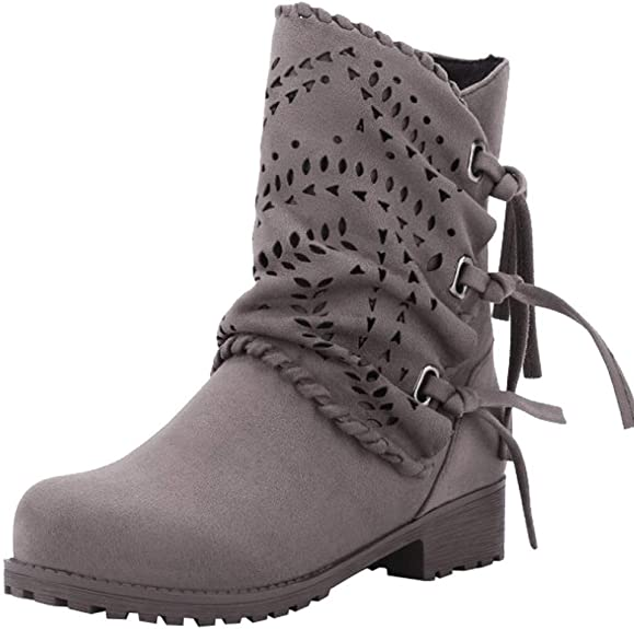 Magiyard_Shoes Bottines Chelsea Femme, Botte Cuissarde Plate