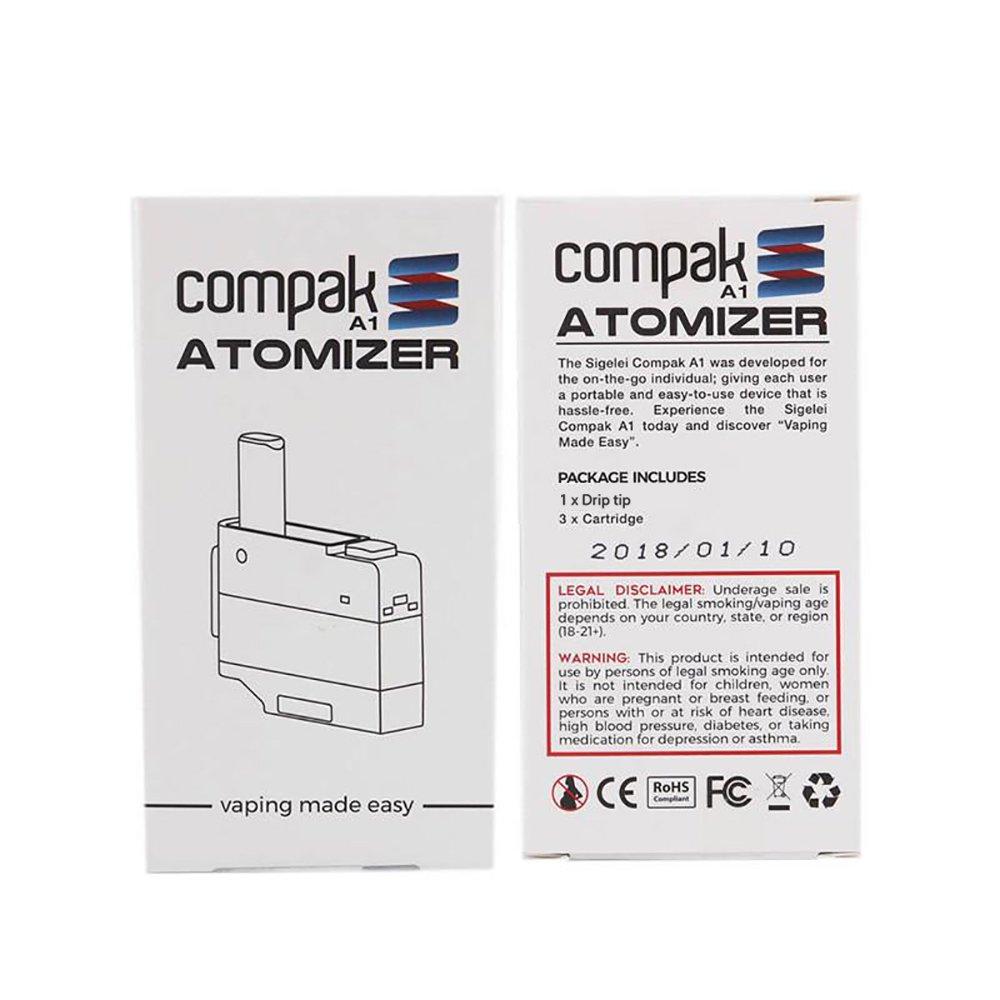 amazon co jp sigelei 電子タバコ vape compak a1交換用コイル 3個 1個
