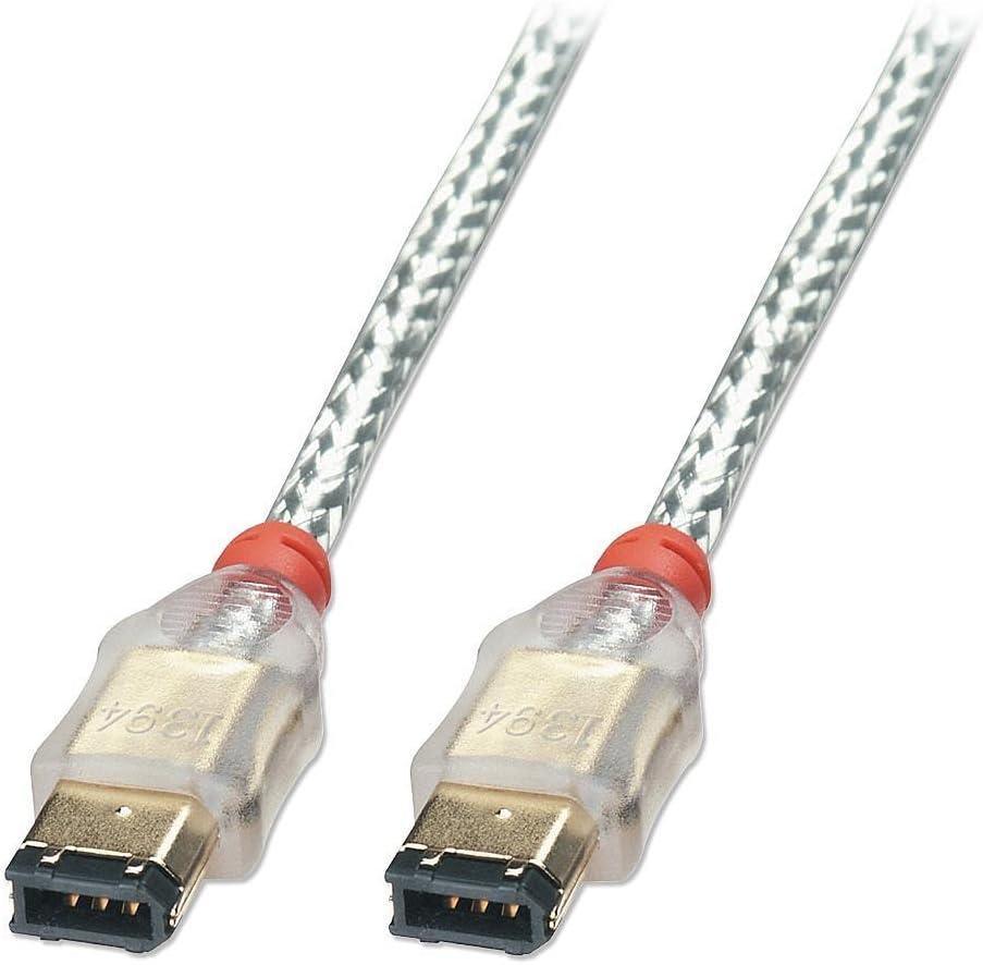 10m Transparent Lindy C/âble FireWire Premium 6//6 M/âle//M/âle