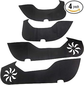 For Honda Accord 18 Anti Kick Pad Door Protector Trim Film Carbon Fiber Leather