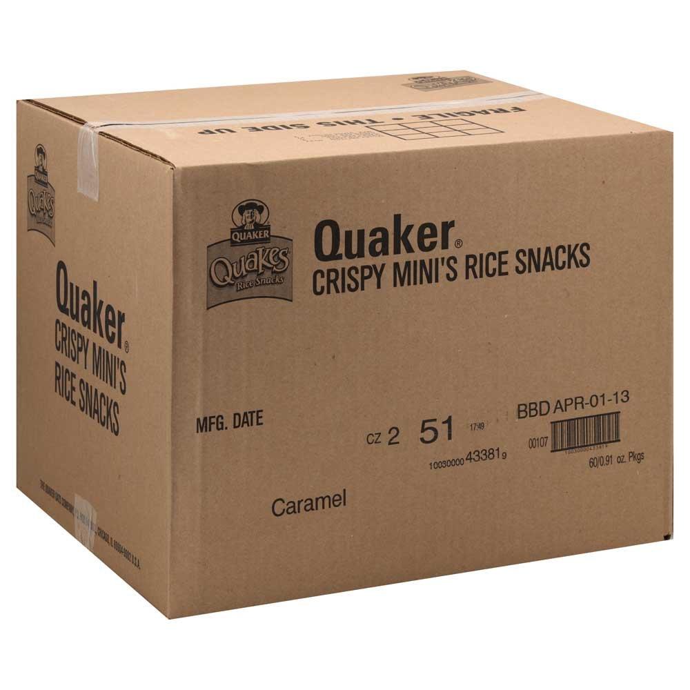 Quaker Mini Caramel Rice Snacks, 0.91 oz. bag, 60 per case