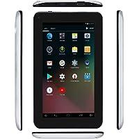 "Haehne 7"" Tablet PC, Google Android 6.0 Quad Core, 1G RAM 16GB ROM, Cámaras Duales, 1024 x 600 Pantalla, WiFi, Bluetooth, HDMI, con Funda de Cuero, Plata"