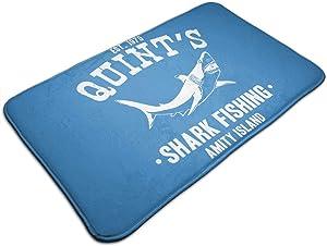 Welcome Doormat - Non-Slip Entrance Floor Rug - Easy Clean Rug Mats for Entry - Machine Washable Indoor Carpet Doormats with Jaws Shark, 19.5''Wx31.5''L