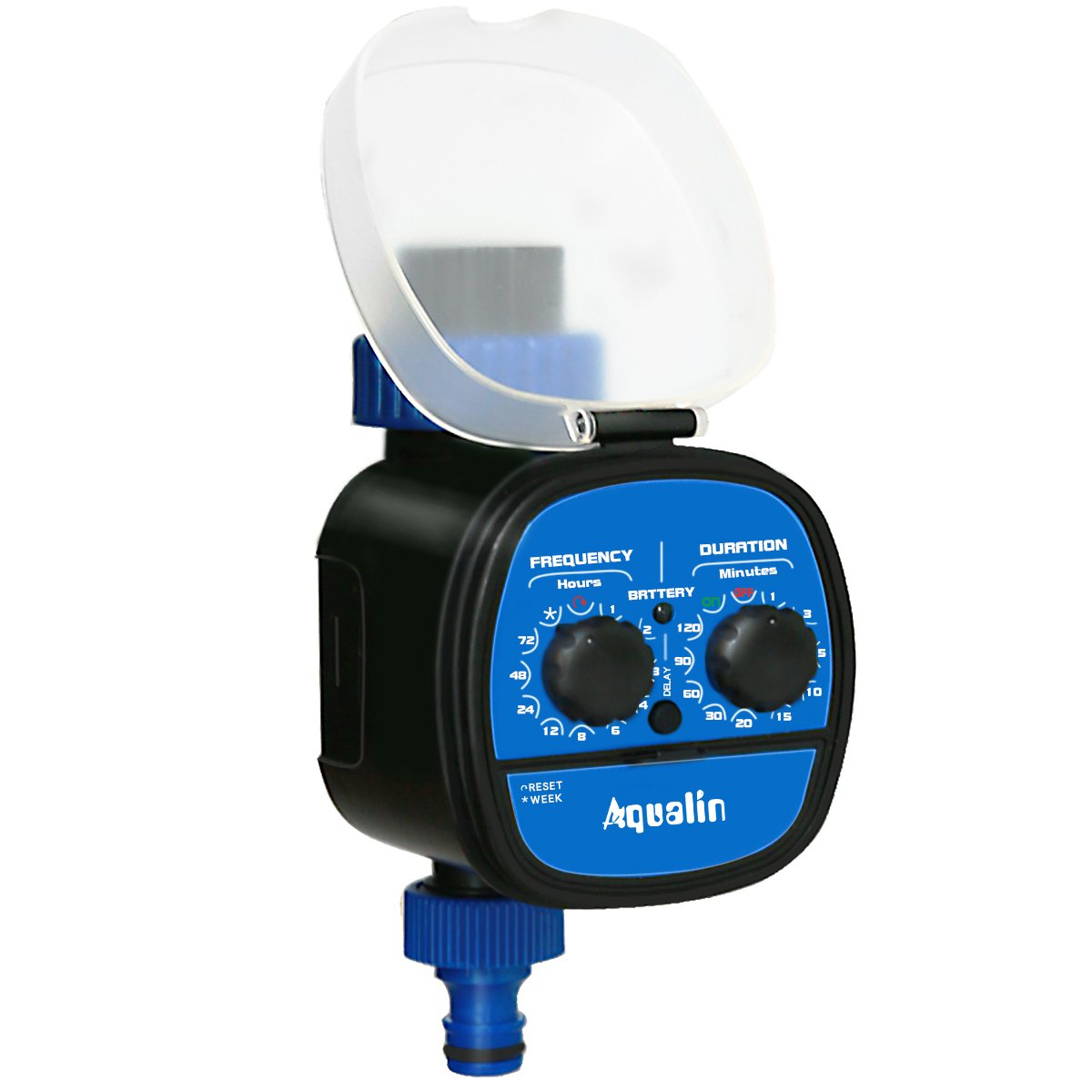 Aqualin Automatic Ball Valve Water Timer Electronic Garden Irrigation System Controller With Delay Function Waterproof
