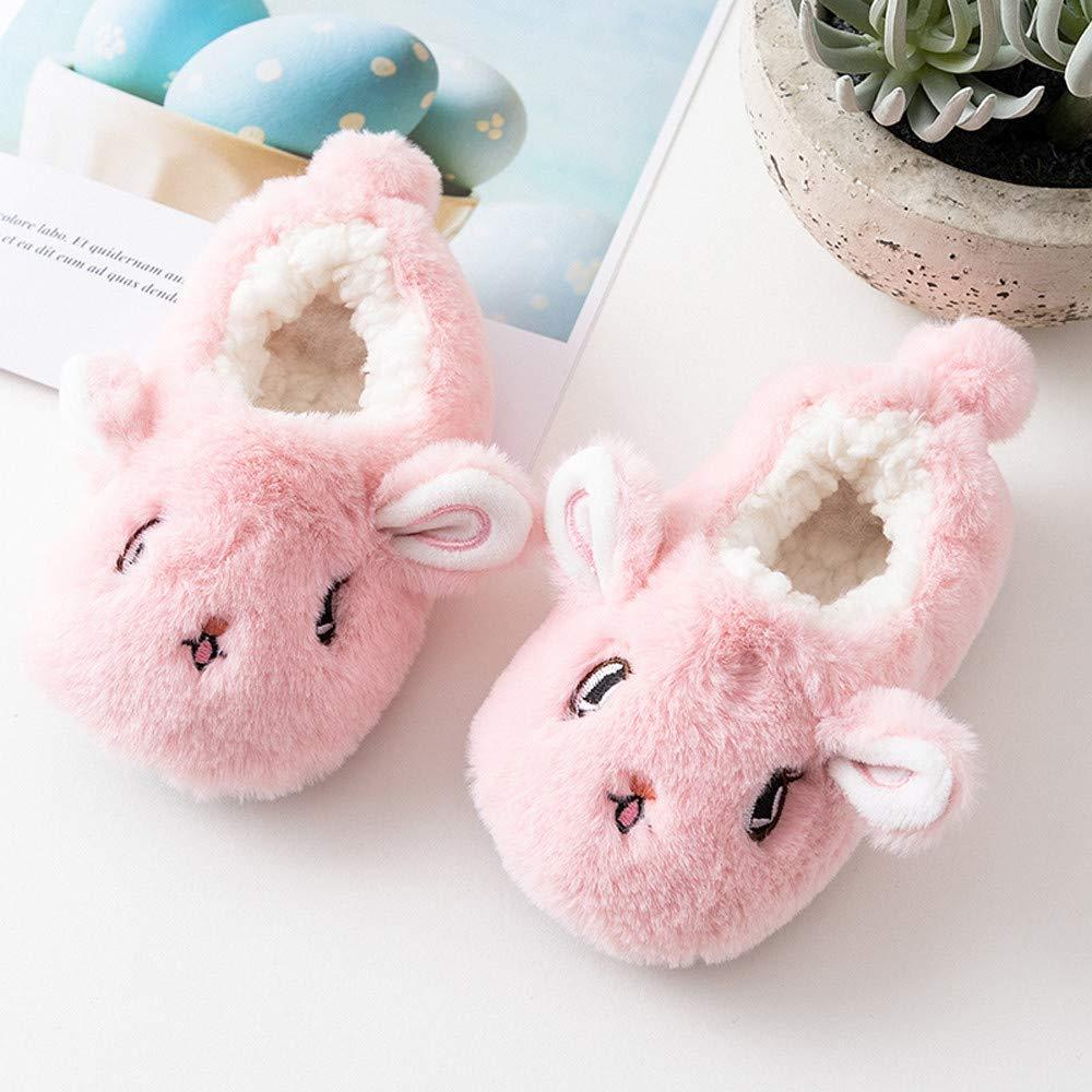 Amazon.com: Hauzet Baby Boy Girl Animal Cotton Shoes Christmas Toddler Anti-Slip Home Fleece Slipper: Clothing