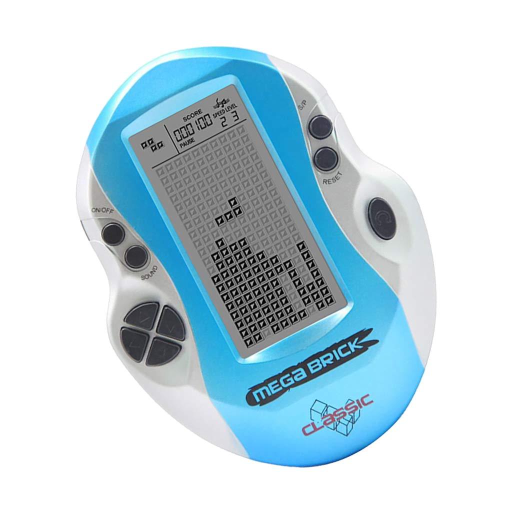 F Fityle Consoles de Jeux Portables LCD Cadeaux d'anniversaire Noël pour Enfants Parents Amis - Bleu