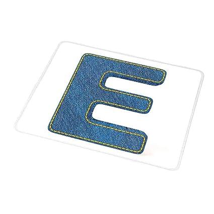 Amazon Com Customized Gaming Mouse Letter E Denim Blue