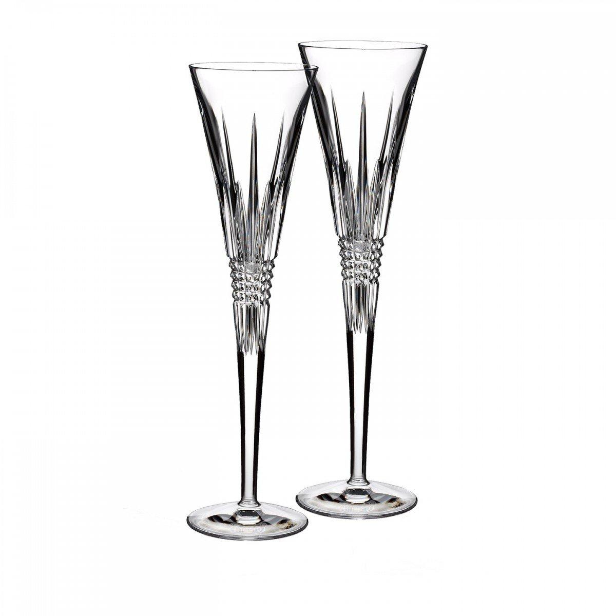 Lismore Diamond Toasting Flute Glass (Set of 2)