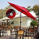 Ollieroo Outdoor Solar Powered 32 LED Lighted Patio Umbrella Tilt...