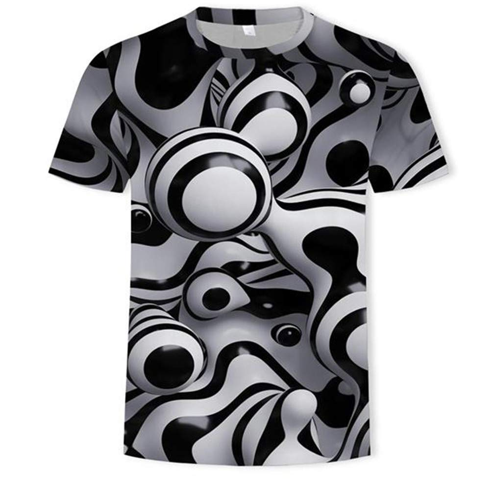 Big Sales Anewoneson 2019//Mens New Casual Fashion Printed Lapel Print Short-Sleeved Shirt