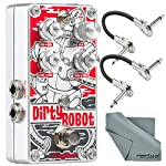 DigiTech Dirty Robot Stereo Mini-Synth Pedal and Accessory Bundle with 2x Cables + Fibertique Cloth from Photo Savings