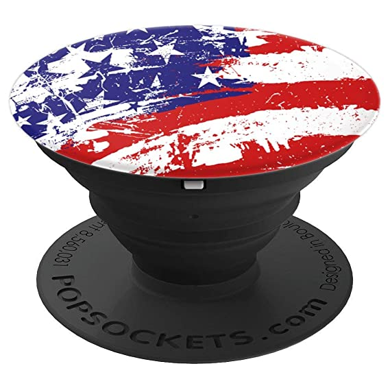 c259f083d Image Unavailable. Image not available for. Color: USA Flag Pop Socket-  Painted graffiti American ...