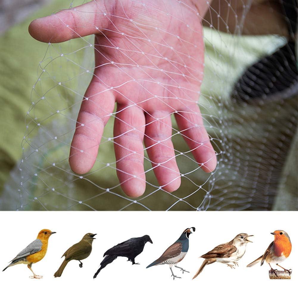 JYCRA Red para pájaros, 4 m x 10 m, de Nailon, para jardín, antipájaros, Estanque, protección de Frutas, Malla para Mascotas, roedores y pájaros