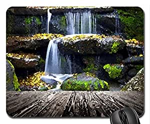 Water cascades Mouse Pad, Mousepad (Waterfalls Mouse Pad, Watercolor style) by mcsharks