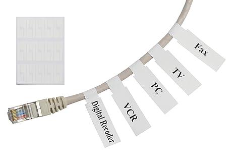 Amazon.com: Mr-Label etiquetas autoadhesivas para cables ...