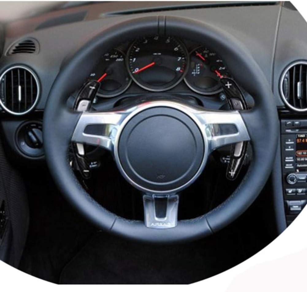adapt/ée pour Porsche 991 DANDELG Palette de Changement de Volant de Voiture en Fibre de Carbone Cayman 981 2013-16 et Boxster 2014-2015 et Carrera 12-2016