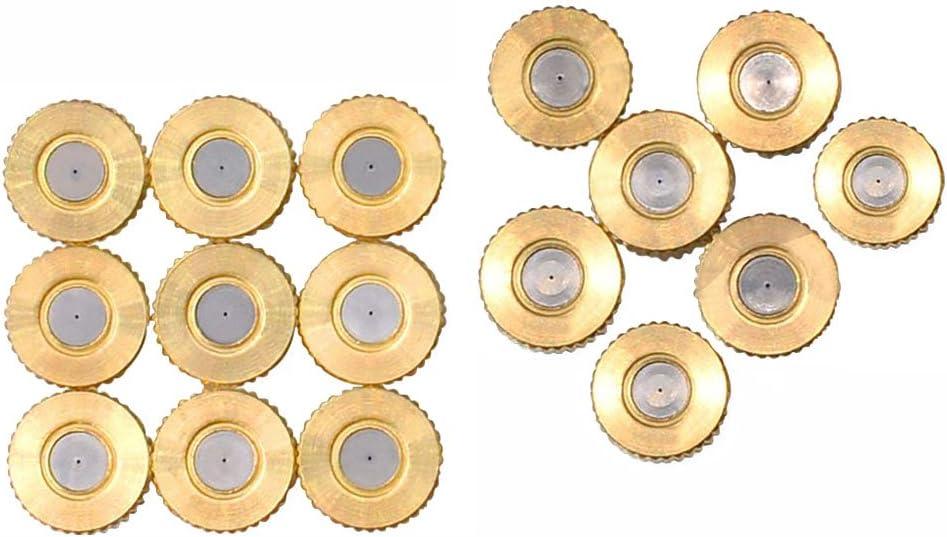 OUNONA 16 St/ücke Misting D/üsen Garten Bew/ässerung Spr/ühd/üse f/ür Outdoor Cooling System 3mm Blende